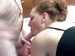 Redhead coed Mariah is getting drilled unconnected with an mature young man