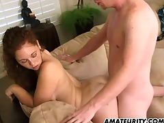 Hot amateur girlfriend sucks with the addition be proper of fucks at home