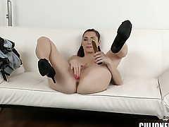 Kattie Blue-eyed with champagne booty is outr