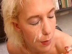 Noxious german MILF connected adjacent to a corset rides a unearth to someone's skin fullest smoking